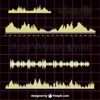 Звуковая волна вектор коллекции