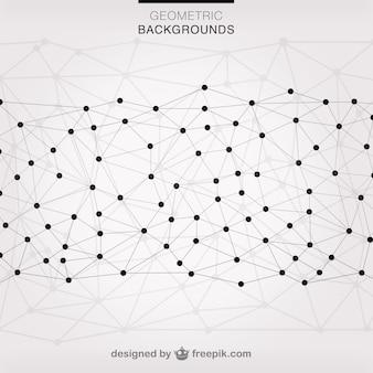 ベクター三角形網背景
