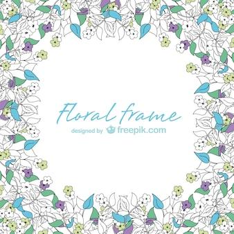 花のフレームのベクトルカード
