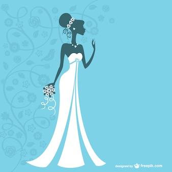 花嫁のベクトルグラフィック