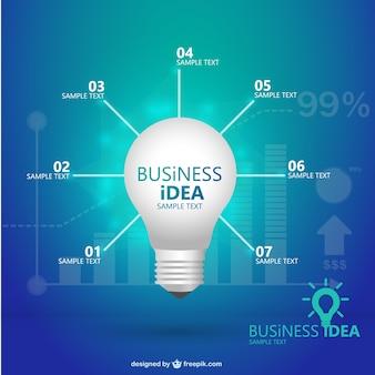 Творческий шаблон лампочка инфографики