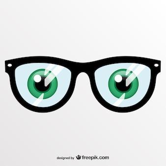 ベクトルアート眼鏡