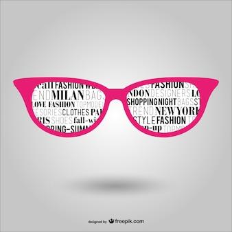 流行の眼鏡ベクトル
