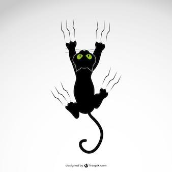 Кошка грабинг с когтями вектор дизайн