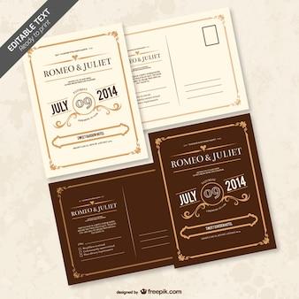 編集可能な結婚式の招待状