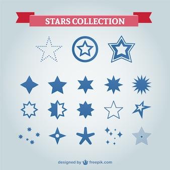 Звезды символы векторный набор