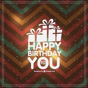 誕生日のタイポグラフィの無料カード