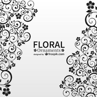 アンティーク花柄の自由ベクトルカード