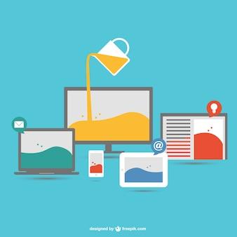 創造的なプロセス技術デバイスベクトル