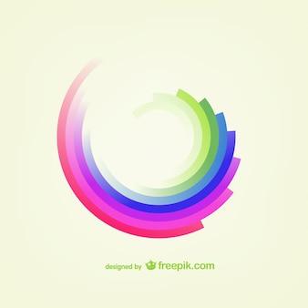 虹形状ベクトル