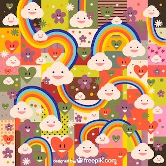 虹かわいいパターン