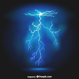 雷のベクトルの背景