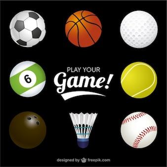 Спортивные мячи векторной графики