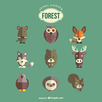 森の動物がセット