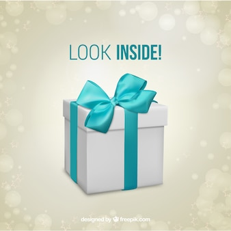 Шаблон подарочной коробке сюрприз
