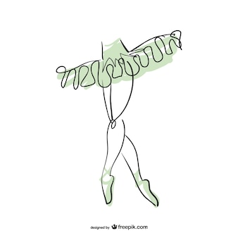 バレリーナラインアート·デザイン