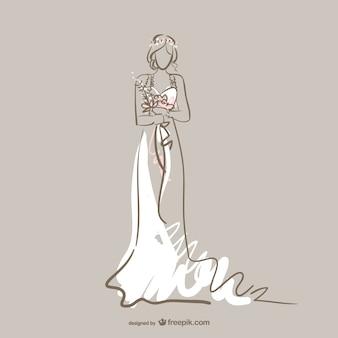 花嫁のベクトル無料のアート
