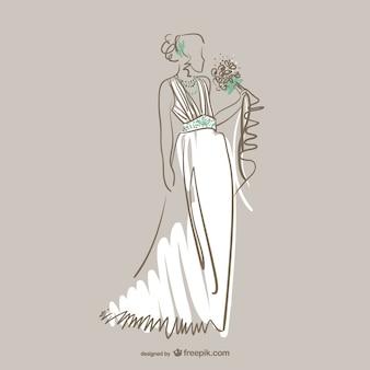 美しい花嫁ベクトル