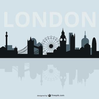 ロンドンの街並みのシルエット