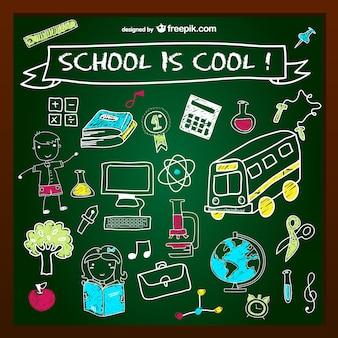 学校はクールな黒板設計です