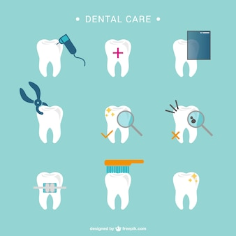 デンタルケア歯のアイコン