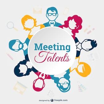 Вектор деловая встреча шаблон