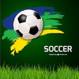 サッカーベクトルの背景
