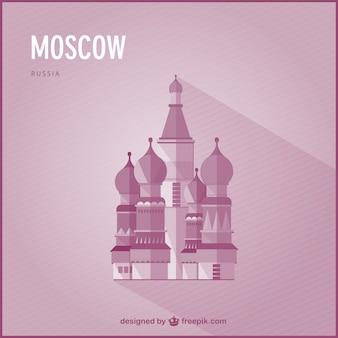 モスクワのランドマークベクトル