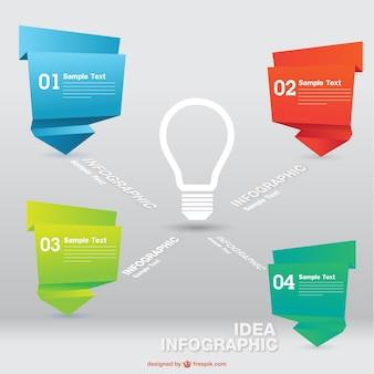 Инфографики лампочка креативный дизайн