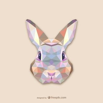 三角形のウサギのデザイン