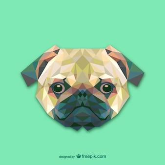 三角形の犬のデザイン