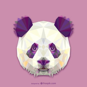 Дизайн треугольник панда