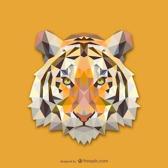 三角形の虎デザイン