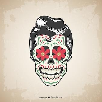 ベクトルの頭蓋骨の入れ墨のデザイン