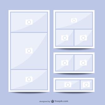 コラージュ画像のレイアウトベクトル