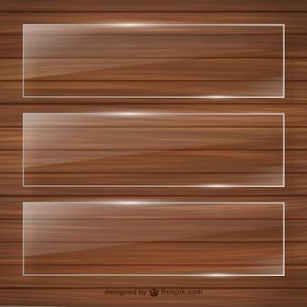 Кристалл кадры на деревянной шаблона