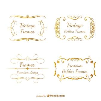 Классические золото ретро кадров вихрем дизайн
