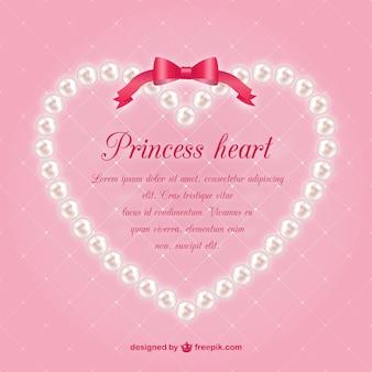 真珠の心臓ベクトルテンプレート