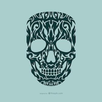 頭蓋骨の入れ墨のデザイン