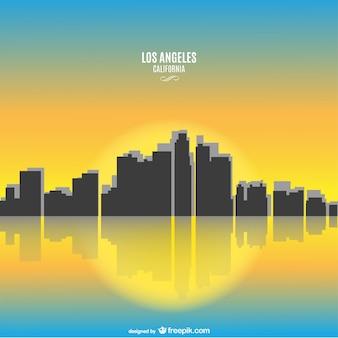 晴れたカリフォルニア州ロサンゼルスの街並み