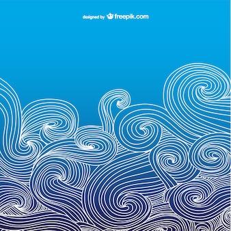 Синий океан фон волнистые
