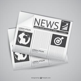 新聞のベクトルグラフィック