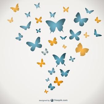 蝶ベクトルテンプレート