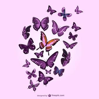 蝶ベクトルピンクの背景