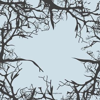 Фон ветви деревьев вектор
