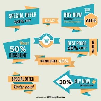 ヴィンテージオンラインショッピングのラベル