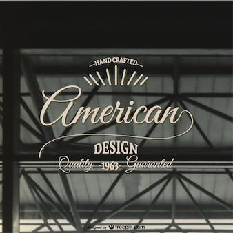 アメリカのレトロなベクトルスタンプ
