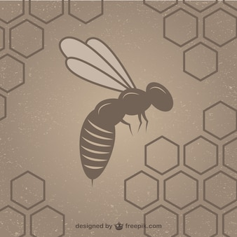 Соты с пчел фона шаблона