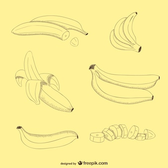 Банан вектор бесплатно