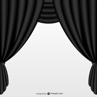 シンプルな黒のカーテン